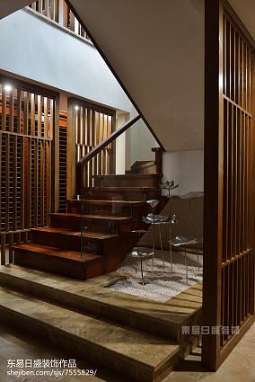 家居新中式风格楼梯设计家装装修案例效果图