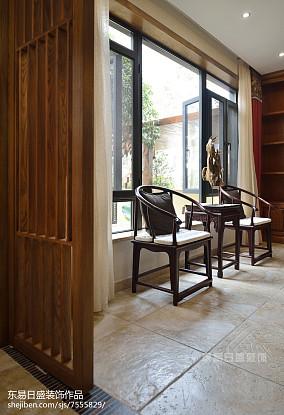 温馨823平中式别墅休闲区图片欣赏别墅豪宅中式现代家装装修案例效果图