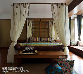 精美115平米中式别墅卧室实景图片大全