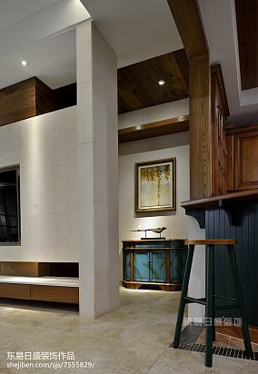 典雅424平中式别墅装潢图别墅豪宅中式现代家装装修案例效果图