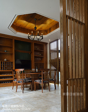 明亮403平中式别墅实拍图别墅豪宅中式现代家装装修案例效果图