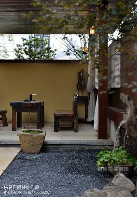 优美772平中式别墅花园装饰图别墅豪宅中式现代家装装修案例效果图
