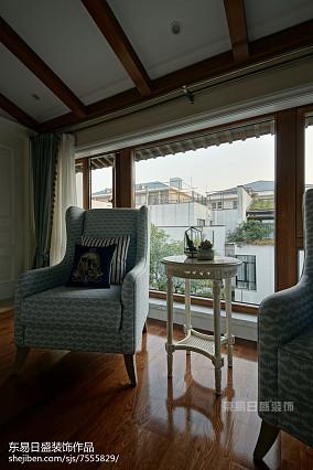 精美132平米美式别墅阳台欣赏图片