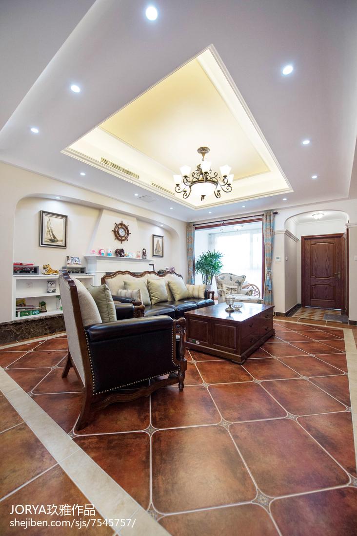 简约美式风格吊顶设计客厅美式经典客厅设计图片赏析