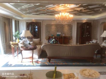 热门面积120平别墅客厅新古典装修设计效果图