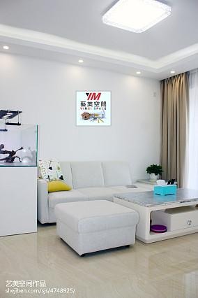 热门106平米三居客厅宜家装修设计效果图片