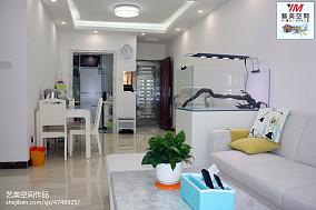 精选面积92平宜家三居客厅实景图片