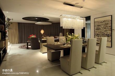 热门面积135平简约四居餐厅装修图片大全四居及以上现代简约家装装修案例效果图