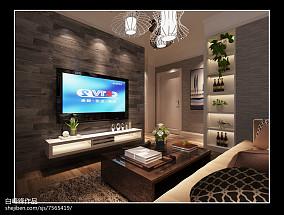 现代电视背景墙装修