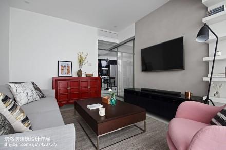2018精选面积85平现代二居客厅欣赏图
