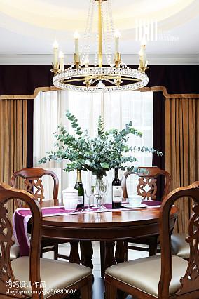 热门面积125平别墅餐厅美式效果图片大全别墅豪宅美式经典家装装修案例效果图