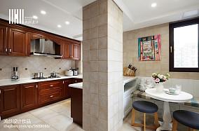 热门别墅厨房美式装修效果图片大全别墅豪宅美式经典家装装修案例效果图
