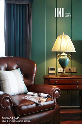 面积141平别墅卧室美式装修图家装装修案例效果图