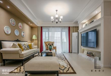 精选95平米三居客厅美式欣赏图片大全
