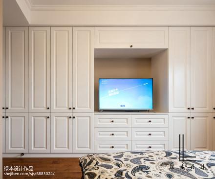面积96平美式三居卧室效果图卧室