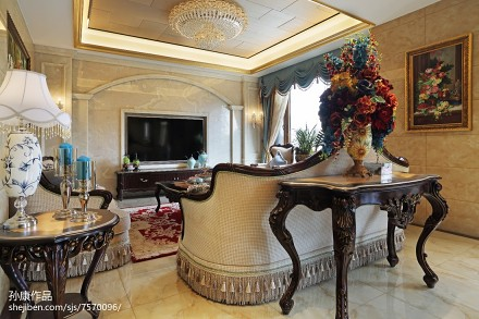2018大小140平别墅客厅欧式欣赏图片大全客厅