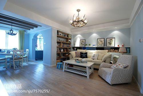 热门大小105平混搭三居客厅设计效果图客厅窗帘