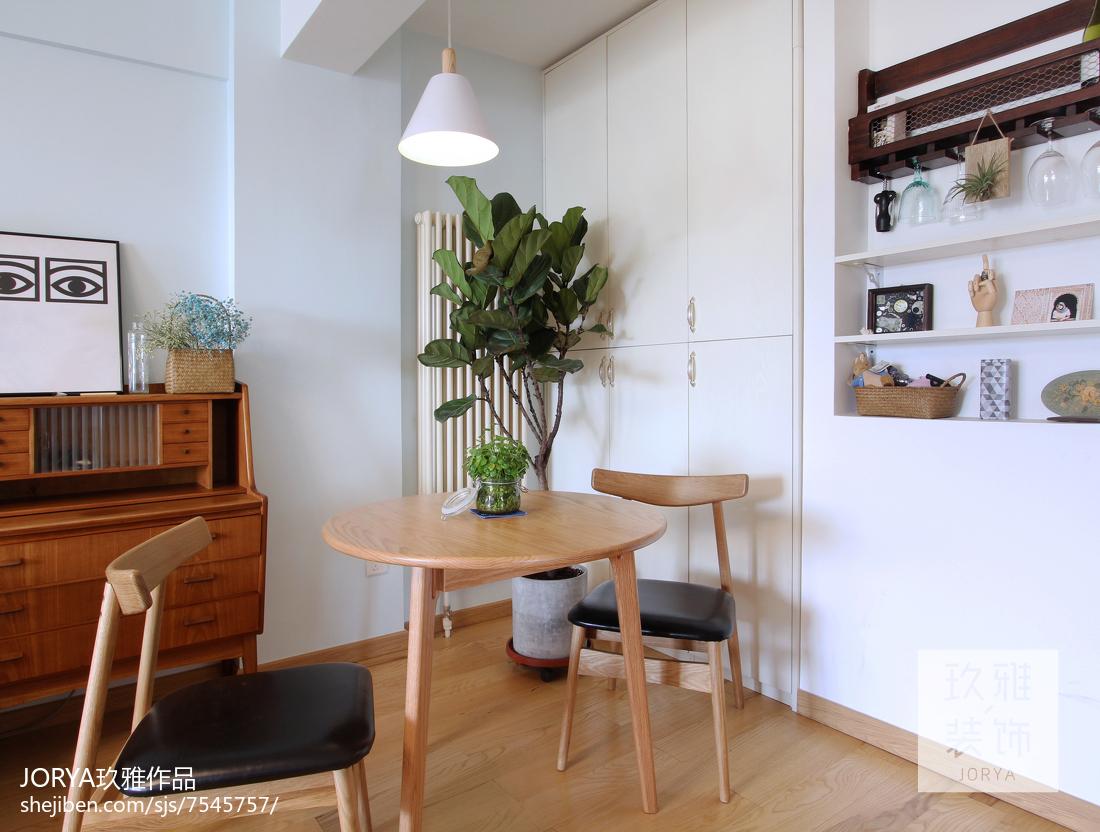 80平米北欧小户型餐厅效果图片大全厨房北欧极简餐厅设计图片赏析