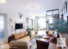 74平米北欧小户型客厅欣赏图片大全