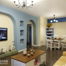 精选108平米三居客厅地中海实景图片欣赏