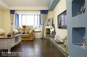 蓝色系地中海风格客厅设计