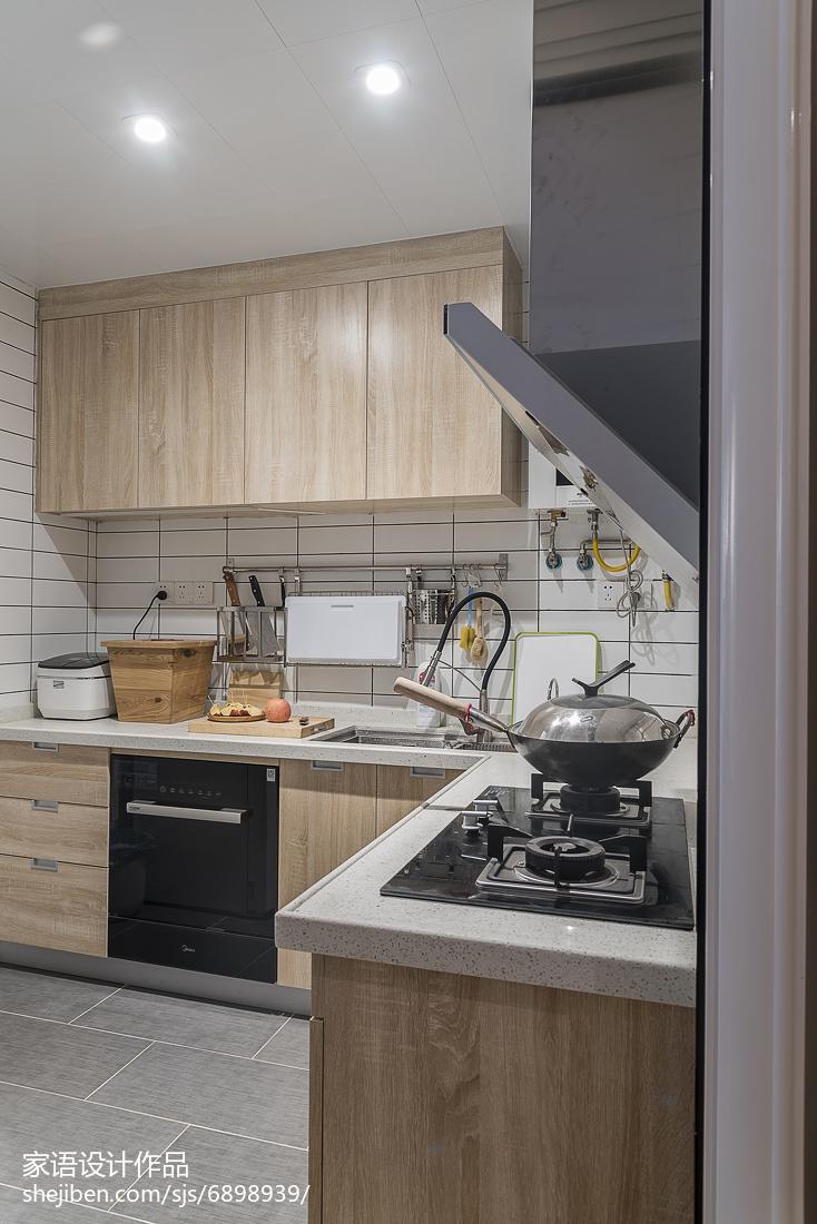 简约日式风格橱柜装修餐厅日式厨房设计图片赏析