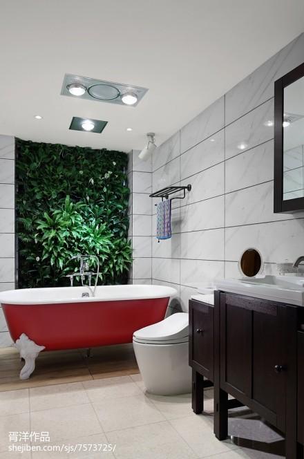 精选109平米三居卫生间中式装修设计效果图片卫生间