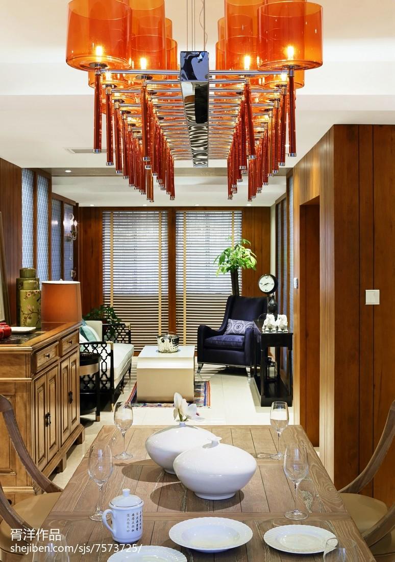 2018精选面积109平中式三居客厅装修实景图客厅