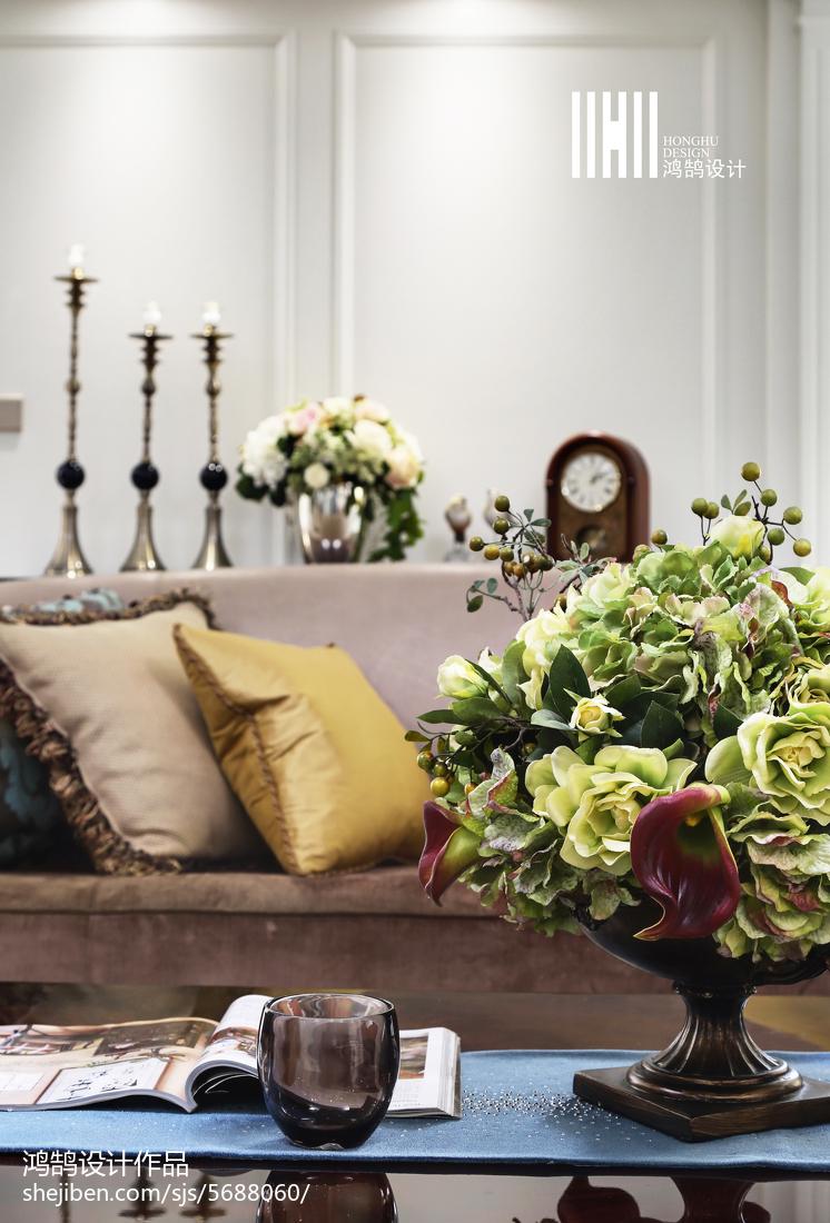 精美面积96平美式三居客厅装修效果图客厅美式经典客厅设计图片赏析
