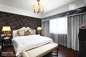 2018面积109平美式三居卧室效果图片欣赏