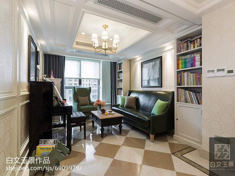 2018精选面积80平小户型客厅混搭装修设计效果图片欣赏功能区