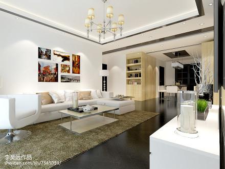 热门大小90平简约三居客厅效果图片