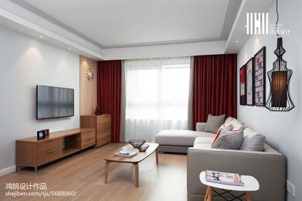 温馨74平北欧三居客厅装修美图