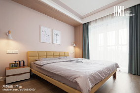 面积95平北欧三居卧室装修效果图片大全
