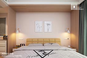 精选面积95平北欧三居卧室实景图片大全三居北欧极简家装装修案例效果图