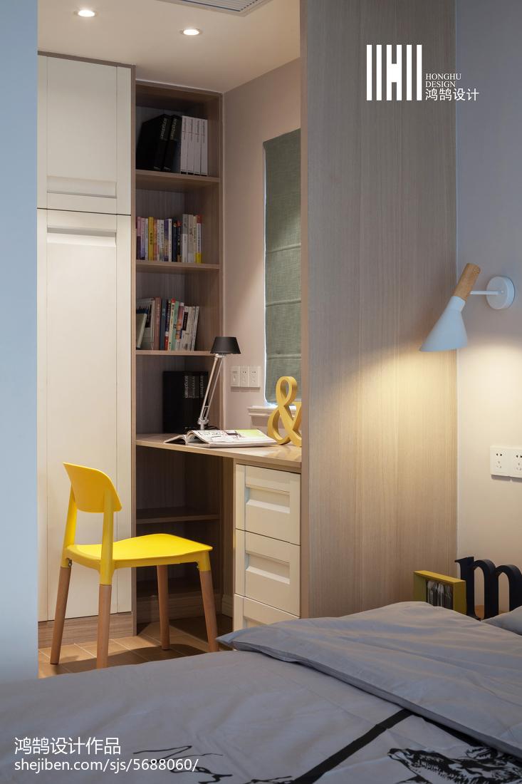 精选107平米三居卧室北欧欣赏图片大全功能区北欧极简功能区设计图片赏析