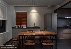 热门面积105平中式三居餐厅实景图片欣赏三居中式现代家装装修案例效果图