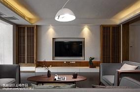 2018精选103平米三居餐厅中式装修设计效果图片三居中式现代家装装修案例效果图