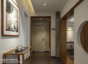 热门96平米三居过道中式装修设计效果图片三居中式现代家装装修案例效果图