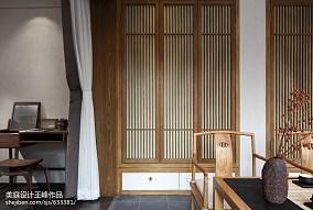 面积108平中式三居休闲区实景图片三居中式现代家装装修案例效果图