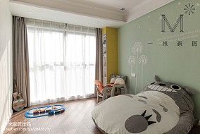 精选面积93平美式三居儿童房装修实景图101-120m²三居美式经典家装装修案例效果图