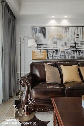 平米三居客厅美式装修图101-120m²三居美式经典家装装修案例效果图
