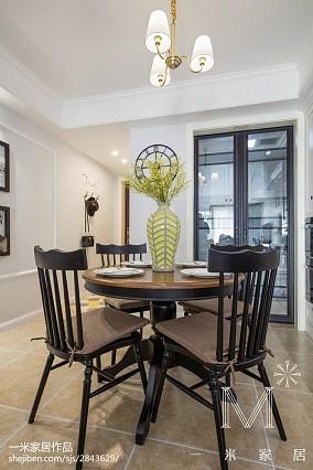 热门面积108平美式三居餐厅装修欣赏图片101-120m²三居美式经典家装装修案例效果图