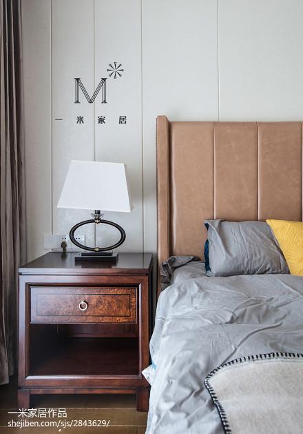 热门98平米三居卧室美式装修效果图片