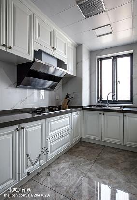 2018面积91平美式三居厨房装修欣赏图