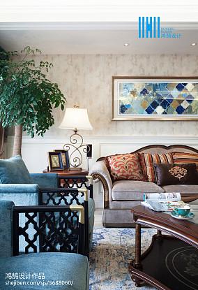 2018面积117平别墅客厅美式欣赏图片