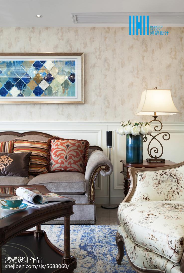 精选面积133平别墅客厅美式效果图片大全客厅美式经典客厅设计图片赏析