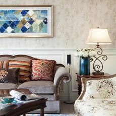 精选面积133平别墅客厅美式效果图片大全