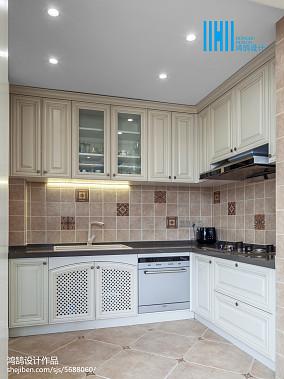 热门122平米美式别墅厨房装修图片欣赏