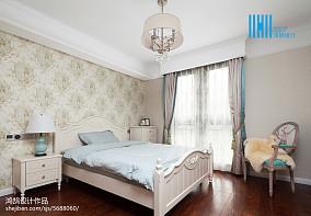 平美式别墅卧室效果图欣赏151-200m²别墅豪宅美式经典家装装修案例效果图